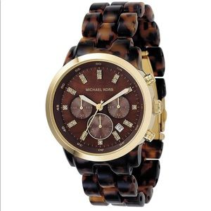 Michael Kors Oversized Tortoise Wrist Watch